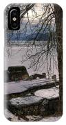 Lake Pend D'oreille At Humbird Ruins 1 IPhone Case