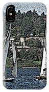 Lake Union Regatta IPhone Case