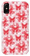 Lalabutterfly Red And White IPhone Case