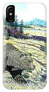 Lamar Valley Grizz IPhone Case