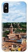 Lamberti Tower View Of Verona Italy IPhone Case