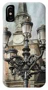 Lamppost Plaza Mayor Madrid Spain IPhone Case