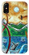 Land Of The Free Original Madart Painting IPhone Case