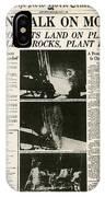 Landing On Moon, 1969 IPhone Case