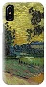 Landscape At Twilight Auvers Sur Oise June 1890 Vincent Van Gogh 1853  189 IPhone Case