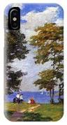 Landscape By The Shore Aka The Picnic Edward Henry Potthast IPhone Case