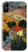Landscape With House And Ploughman IPhone X Case