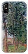 Lane Of Poplars At Moret IPhone Case