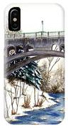 Lanterman Falls Bridge - Mill Creek Park IPhone Case