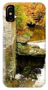 Lantermans Mill In Fall IPhone Case