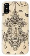 Large Pendant, Temperance Standing At Centre IPhone Case