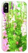 Larkspur Flowers In Soft Oil Style IPhone Case