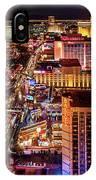 Las Vegas Strip North View Night 2 To 1 Ratio IPhone Case