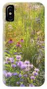 Last Rays Of Sun Light Wildflowers In Moraine Hills Sp IPhone Case
