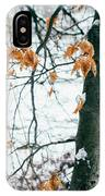 Last Snowy Leaves IPhone Case