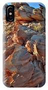 Last Sunlight On Jagged Sandstone In Valley Of Fire IPhone Case