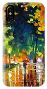 Late Night - Palette Knife Oil Painting On Canvas By Leonid Afremov IPhone Case