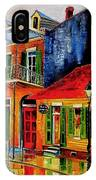 Late On Bourbon Street IPhone Case