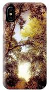 Late Summer View Of Sky And Trees IPhone Case