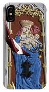 Latvia, Riga, Virgin Mary And Jesus IPhone Case