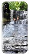 Laughing Whitefish Waterfall In Michigan IPhone Case