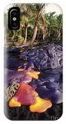 Lava Flow And Palms IPhone Case