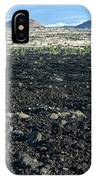 Lava Flow And Schonchin Butte, Lava Beds Nm, California, Usa IPhone Case