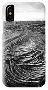 Lava Landscape - Bw IPhone Case