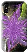 Lavendar Fractal Flower IPhone Case