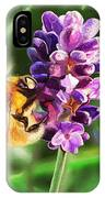 Lavender Bee IPhone Case