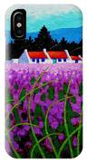 Lavender Field - County Wicklow - Ireland IPhone Case