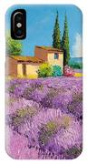 Lavender Fields In Provence IPhone Case