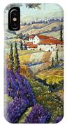 Lavender Fields Tuscan By Prankearts Fine Arts IPhone Case