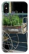 Lavender Flower Cart In Montmarte Paris IPhone Case