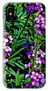 Verbena At Pilgrim Place In Claremont-california   IPhone Case