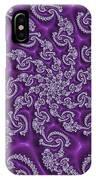 Lavender Fractal  IPhone Case