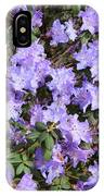 Lavender Rhododendrons IPhone Case
