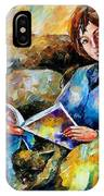Lazy Time - Palette Knife Oil Painting On Canvas By Leonid Afremov IPhone Case