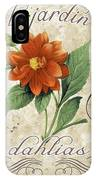 Le Jardin Dahlias IPhone Case