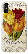 Le Jardin Tulipes IPhone Case