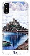 Le Mont, Saint Michel, France IPhone Case