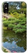 Lead The Way - The Beautiful Japanese Gardens At The Huntington Library With Koi Swimming. IPhone Case
