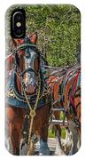 Leading The Way-budweiser Clydesdales IPhone Case