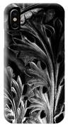 Leaf Detail 2 Black And White IPhone Case