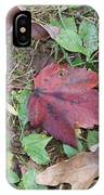 Leaf Standing Out In A Crowd IPhone Case
