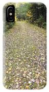 Leaf-strewn Trail IPhone Case