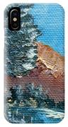 Leaning Pine Tree Landscape IPhone Case