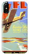 Learn To Fly Vintage Poster Restored IPhone Case