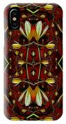 Leather In Floral Harmony And Peace IPhone Case