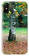 Leaves Blowing Off The Autumn Tree IPhone Case